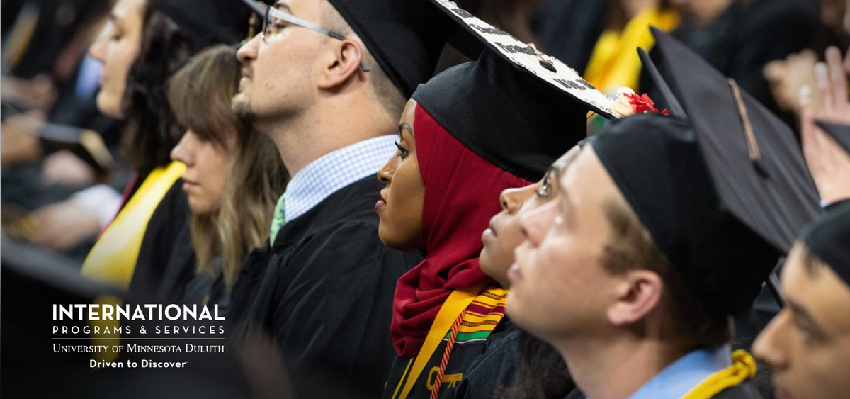 Diverse students at UMD Commencement - IPS